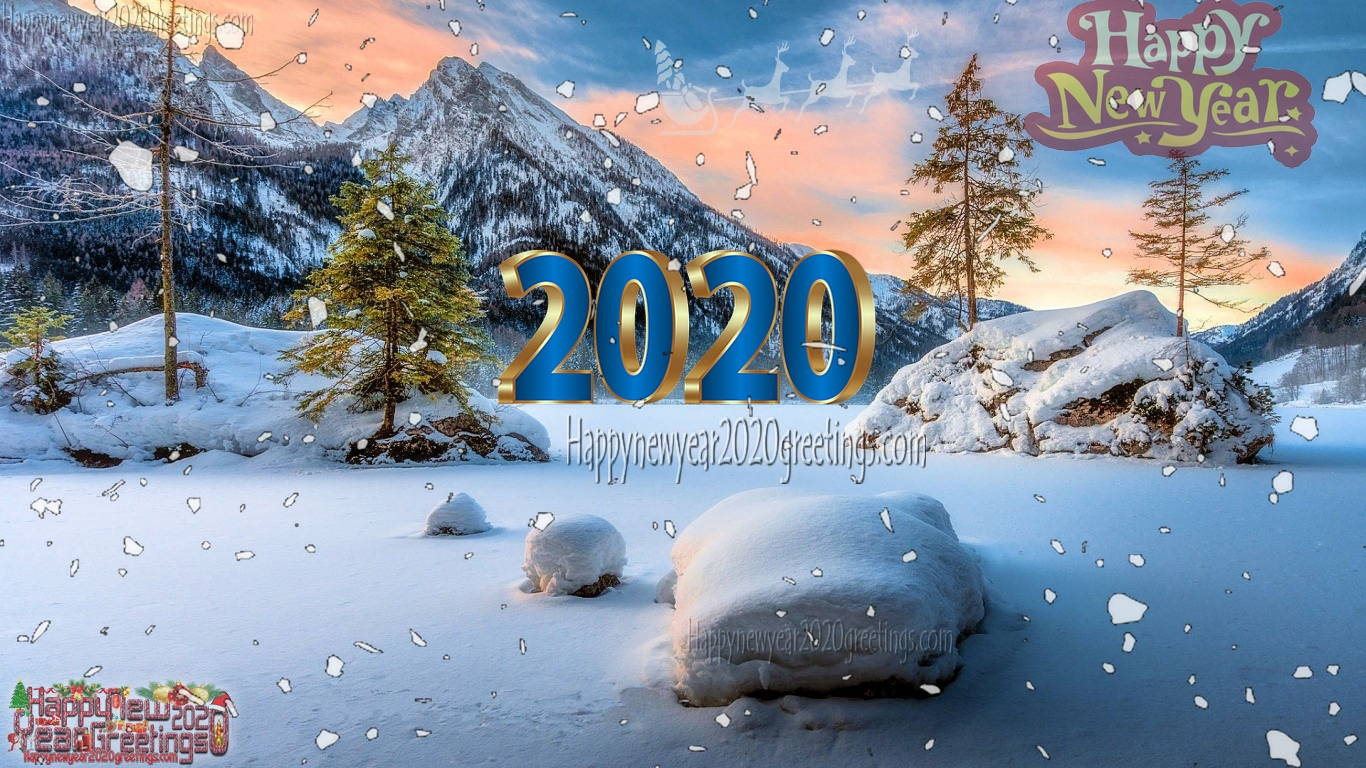 Happy New Year 2020 Nature Wallpapers Download   Happy New 1366x768