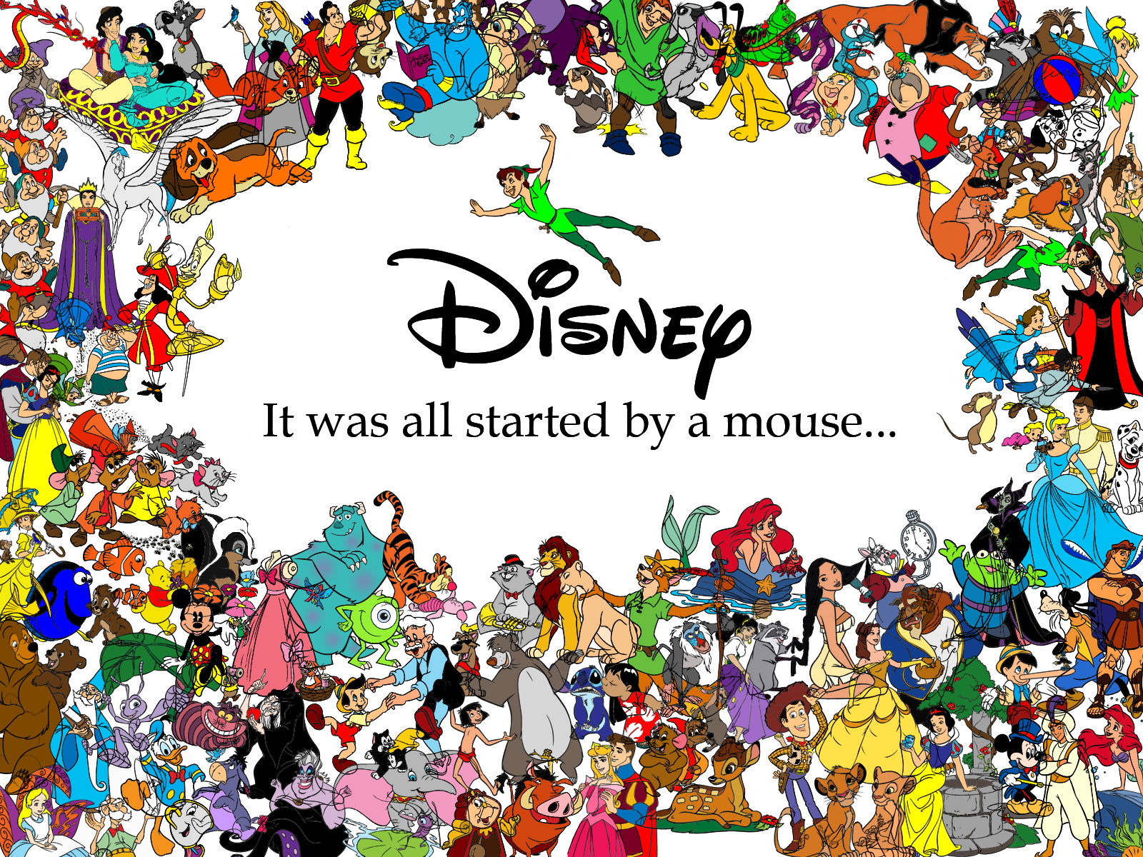 Started with a Mouse   Classic Disney Wallpaper 16471815 1600x1200