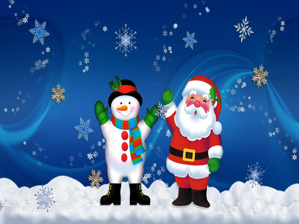 Merry Christmas Santa Claus HD Wallpapers for iPad 1024x768