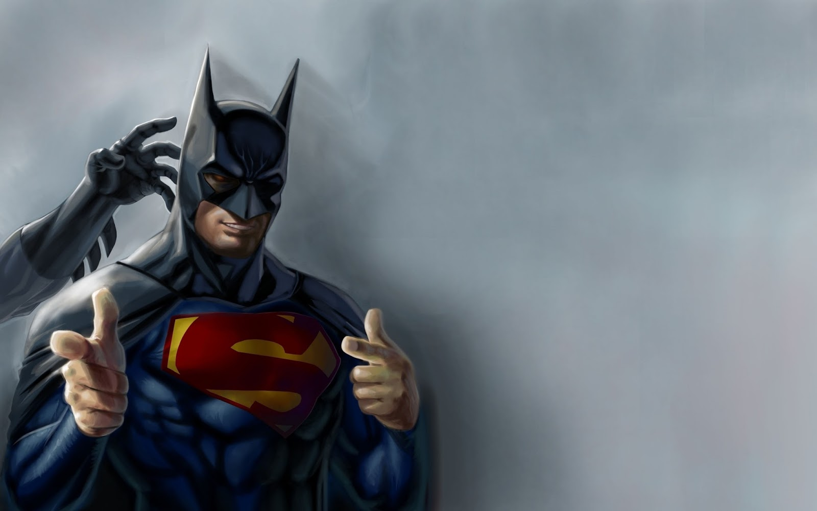Superman Batman DC Comic Heroes Superhero Funny Parody HD Wallpaper i3 1600x1000