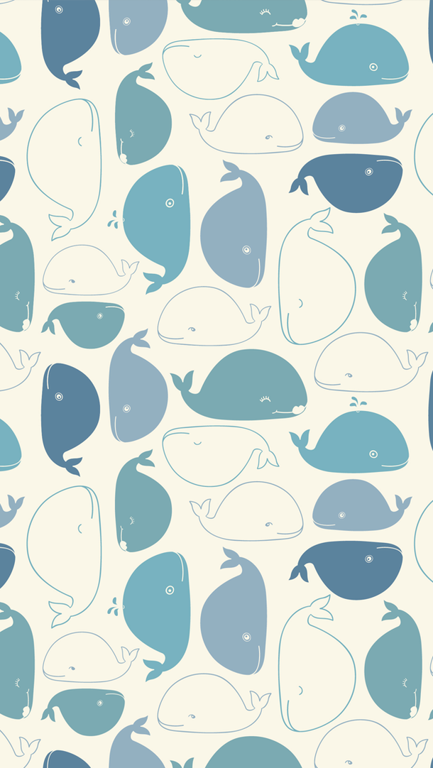 background pattern wallpaper whales phone wallpaper Art in 610x1082