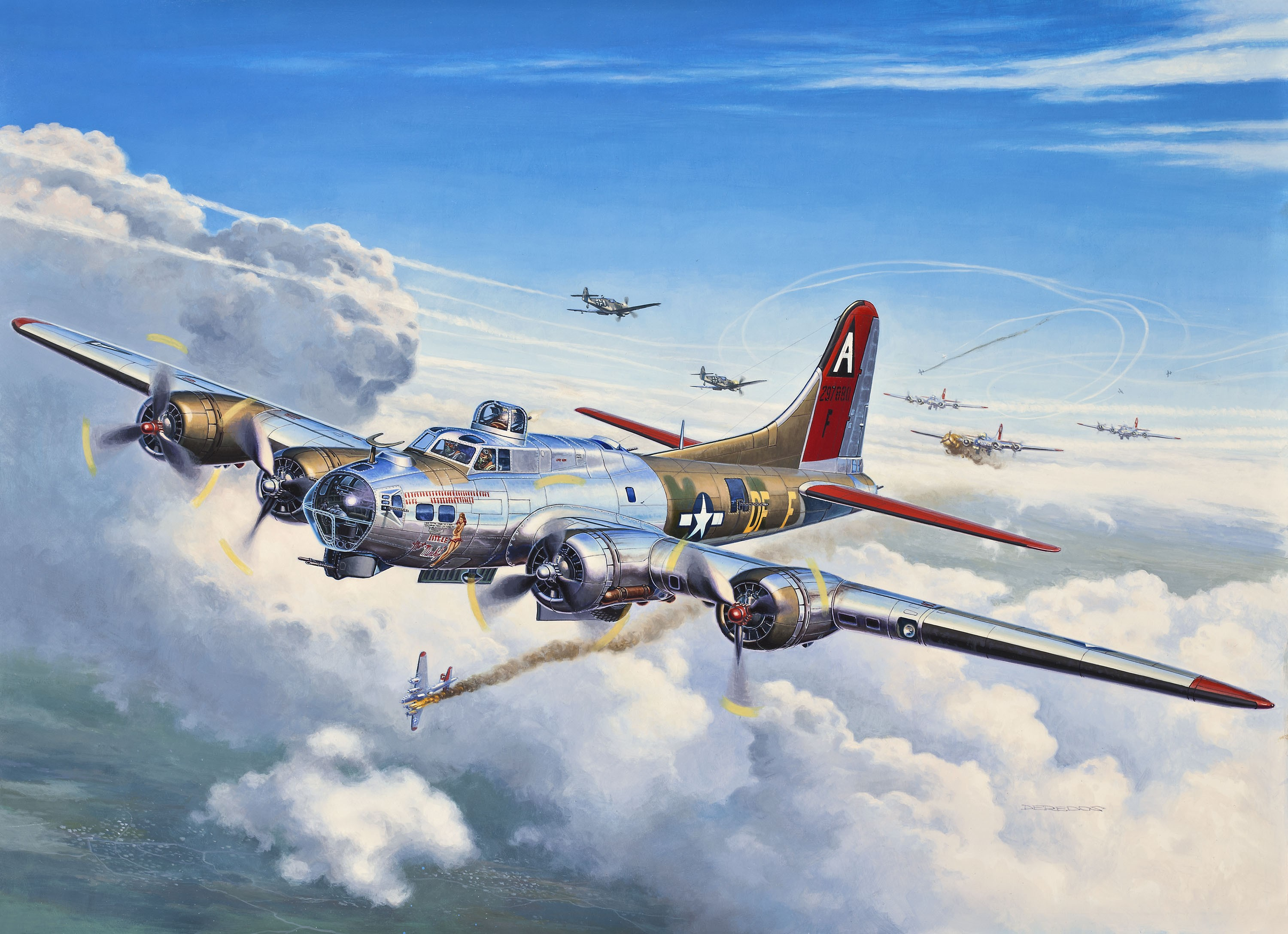 B 17 Flying Fortress Wallpaper B17 Wallpaper - Wallpa...