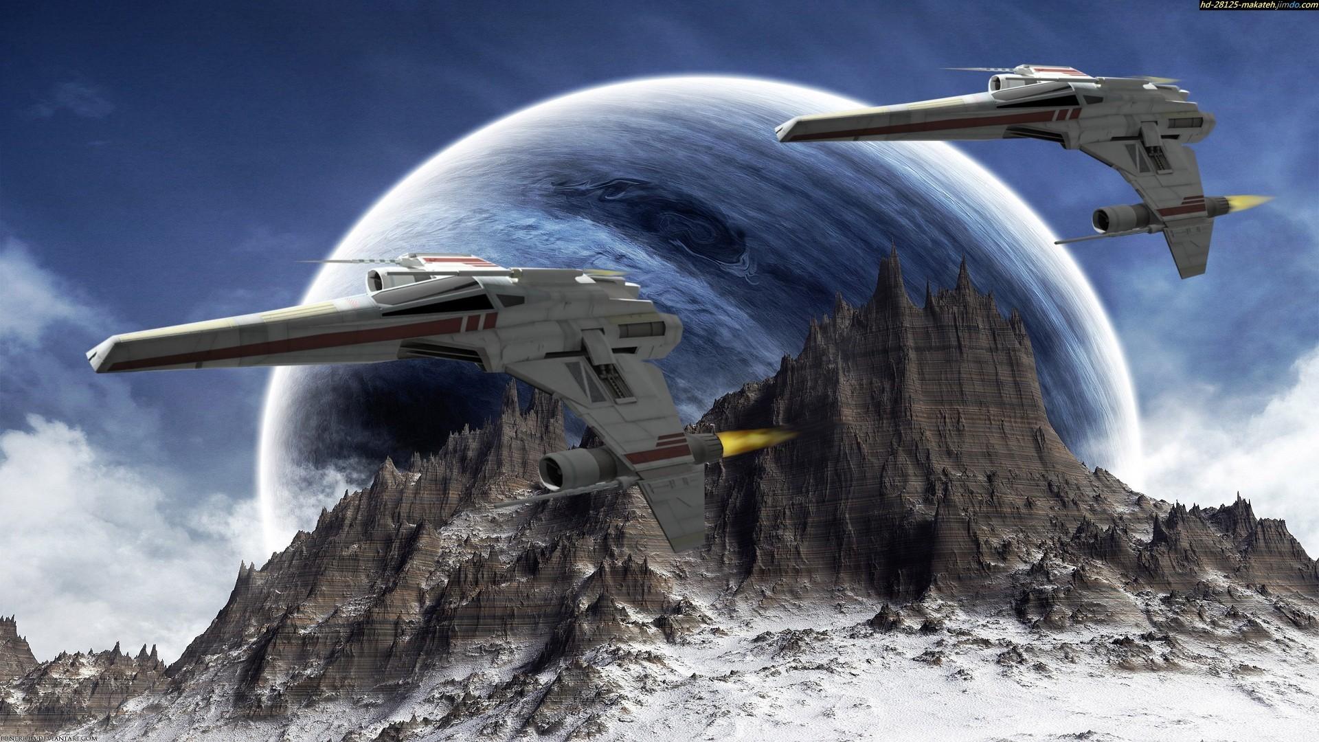 Planets Raumschiffe Science Fiction Sci Fi wallpaper 1920x1080