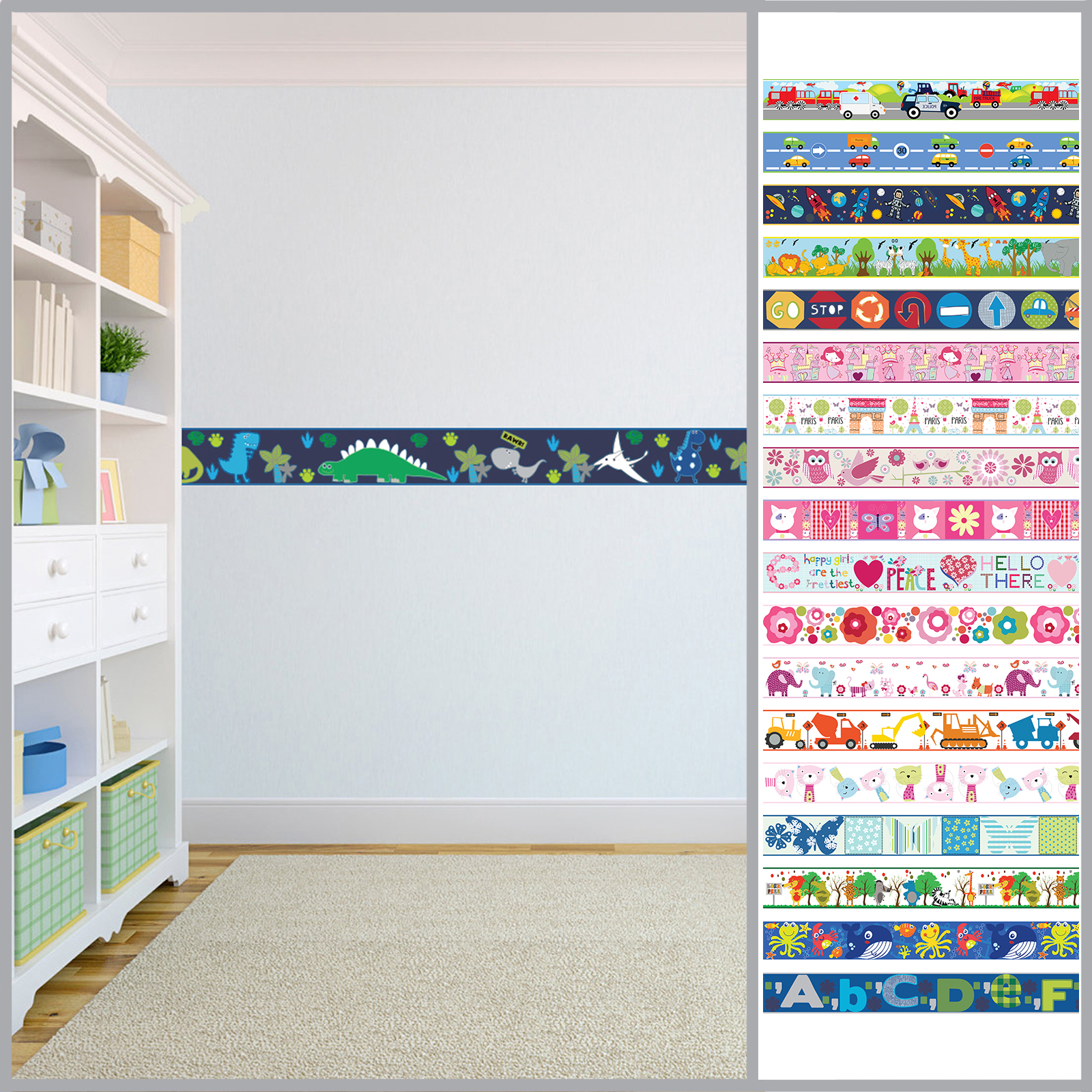 47+] Wallpaper Borders for Kids Bedrooms on WallpaperSafari