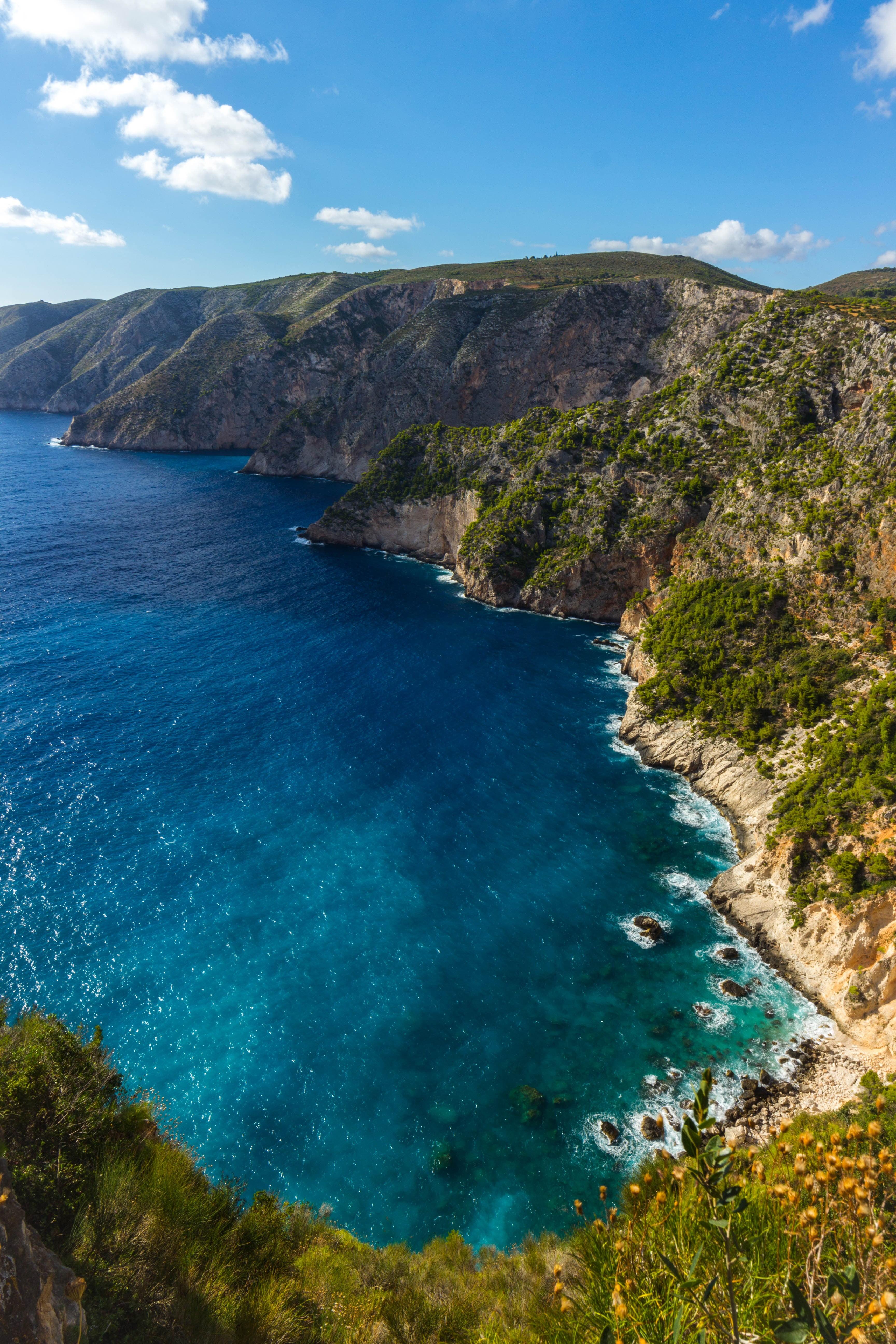 Body of water Zakynthos Greece sea cliff HD wallpaper 3456x5184