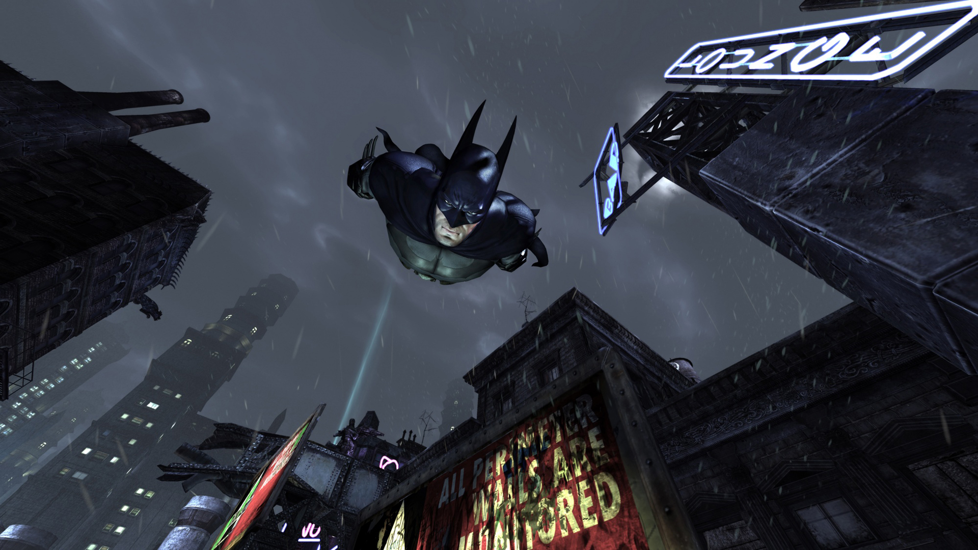 wallpapers city arkham batman wallpaper screen 1920x1080 1920x1080