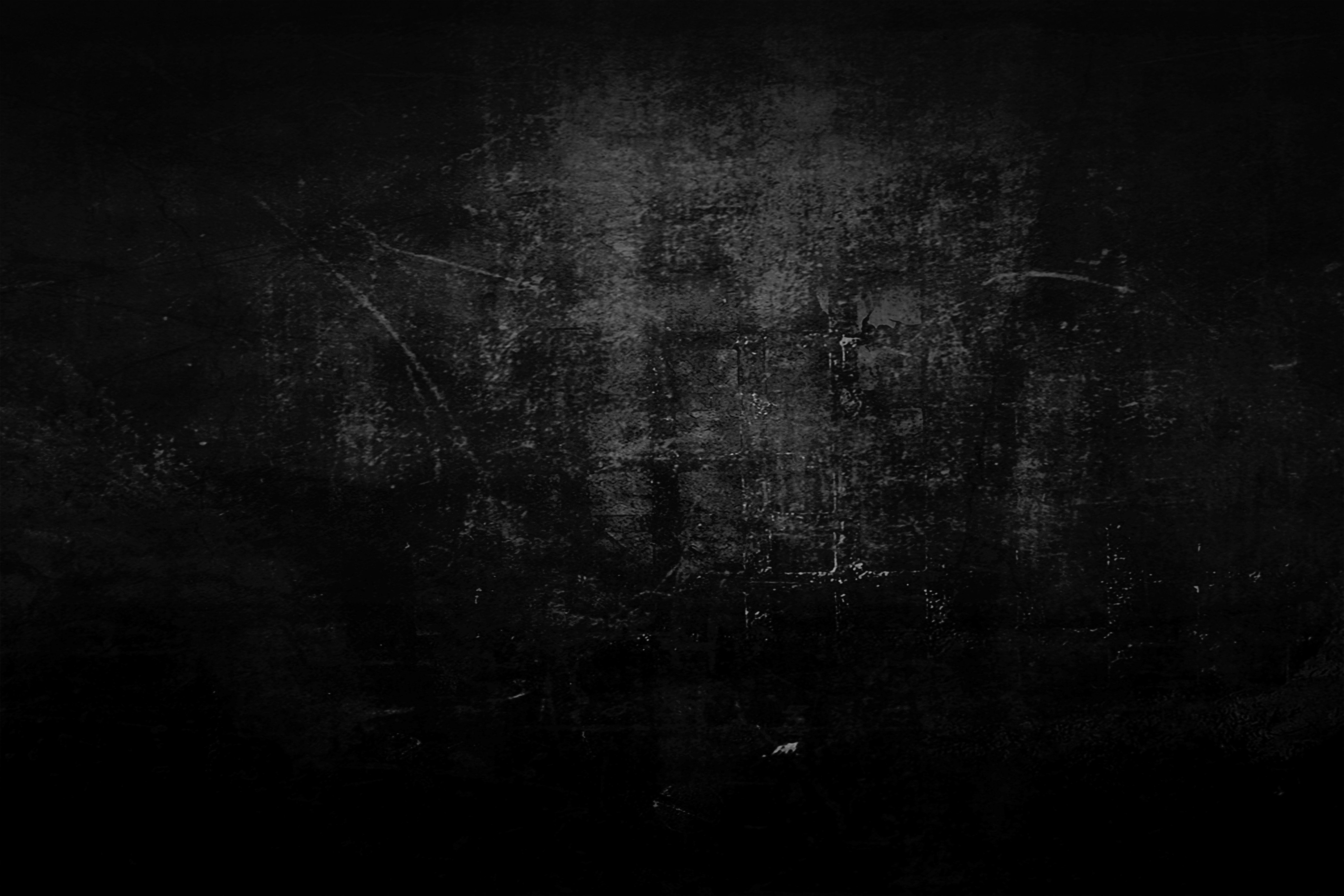 Dark Grunge textures taken from other images converted to black 4800x3200
