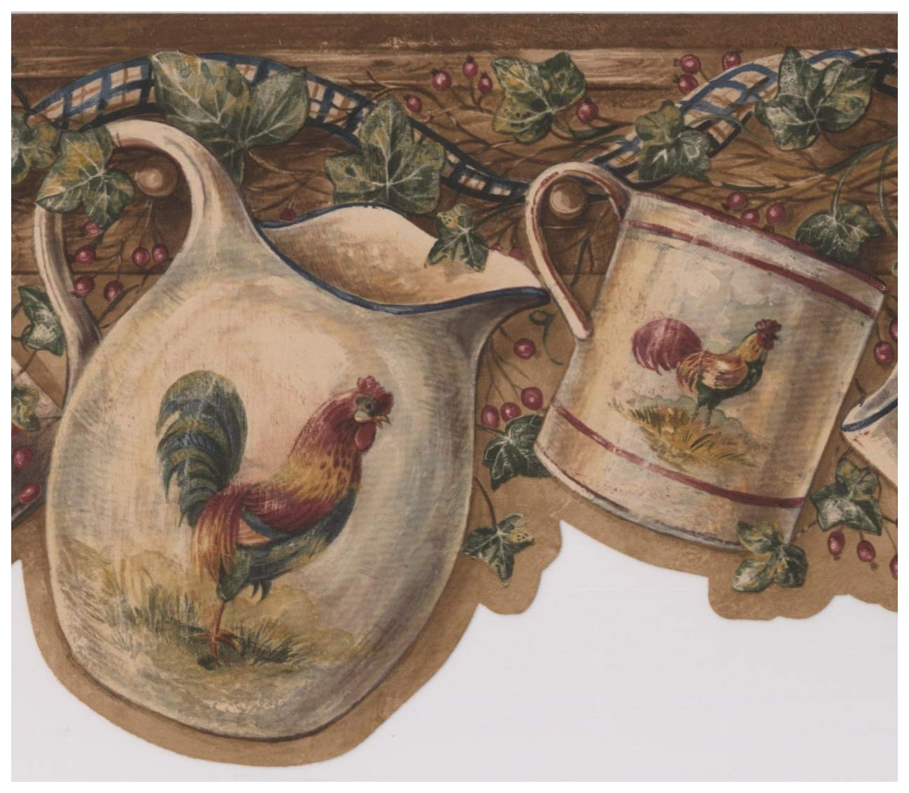 White Cup Kettle with Rooster Hanging on Hooks Red Berries Dark 1299x1133
