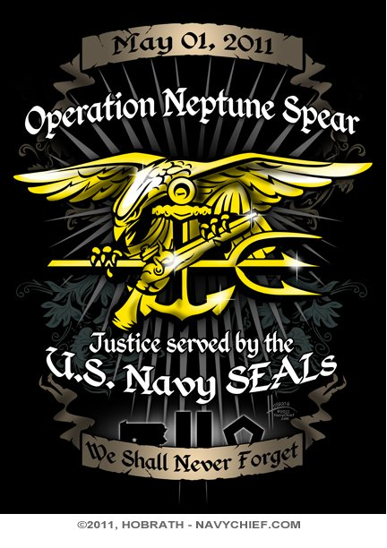 CLEARANCE 18 x 24 Operation Neptune Spear Navy SEALs Tribute Poster 432x612