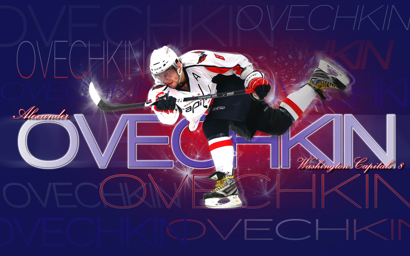 Wallpaper 1680x1050 Hockey Alexander Ovechkin Washington Capitals 1680x1050