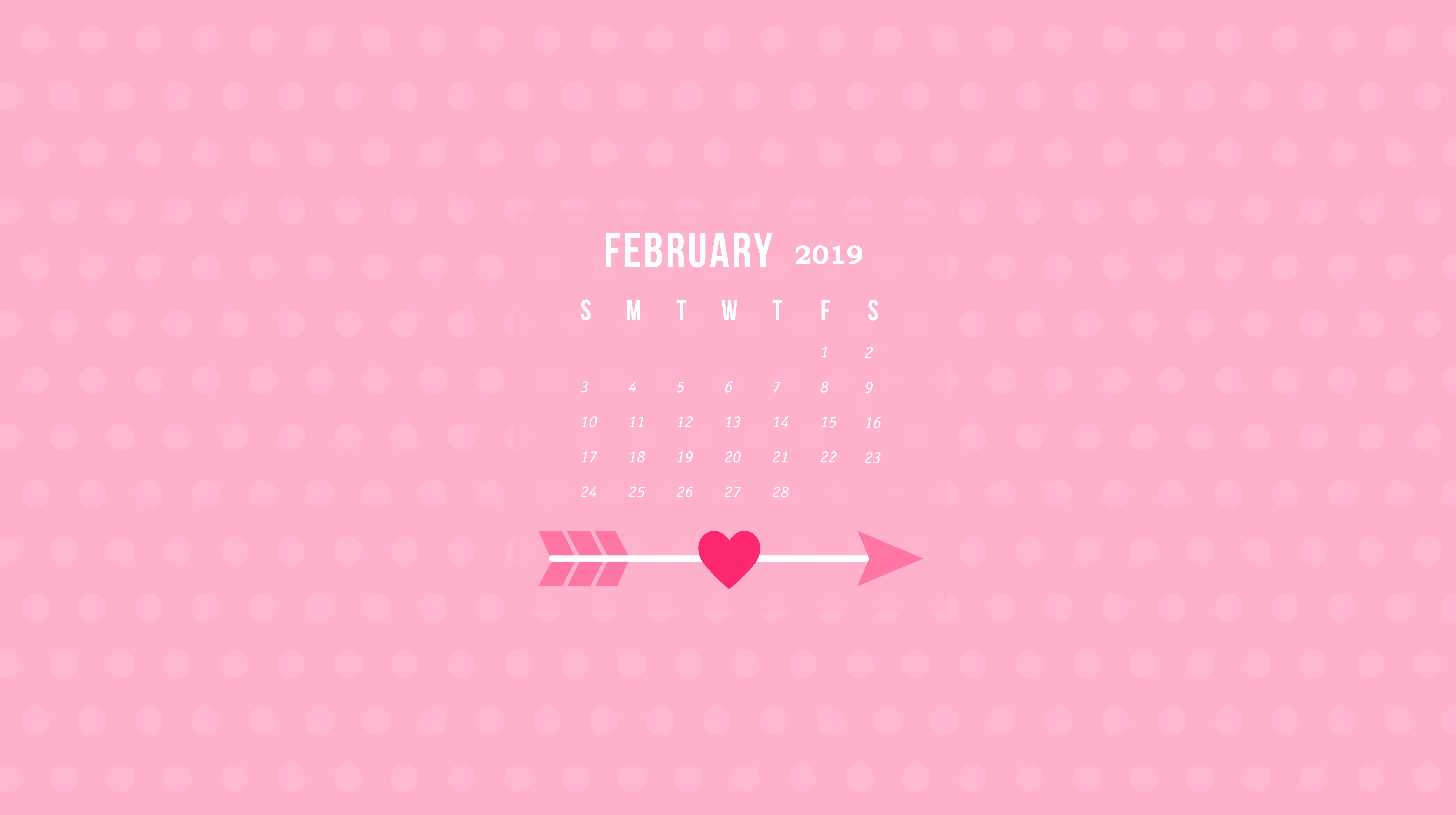 February 2019 Calendar Wallpapers Calendar 2019 5313x2975