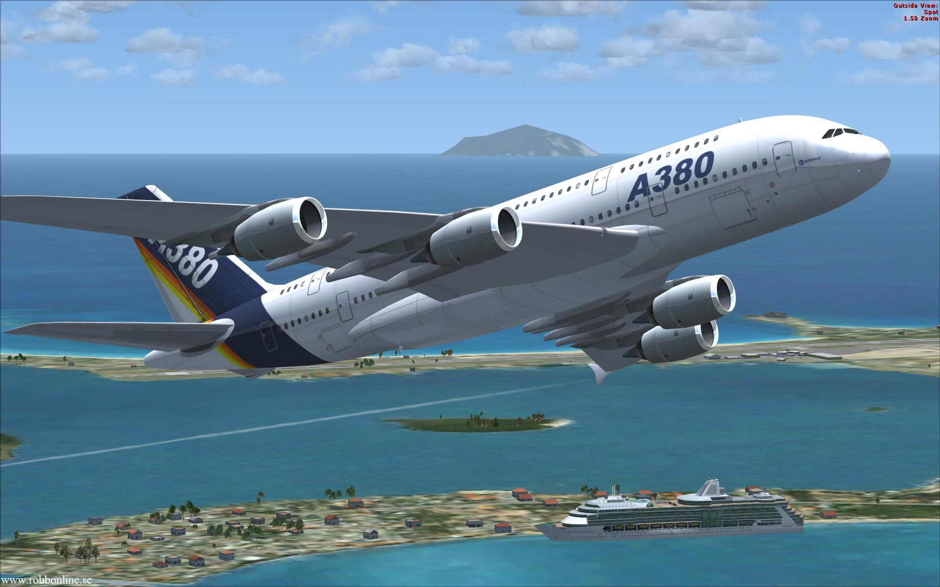 Airbus A Fsx Flight Simulator X Screenshot Wallpaper with 1920x1200