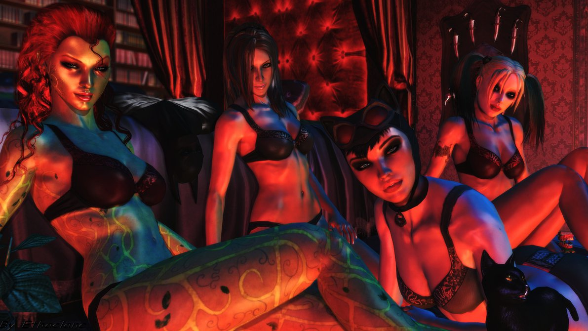 Batman Arkham city wallpaper   Arkham Hotties by ethaclane on 1191x670