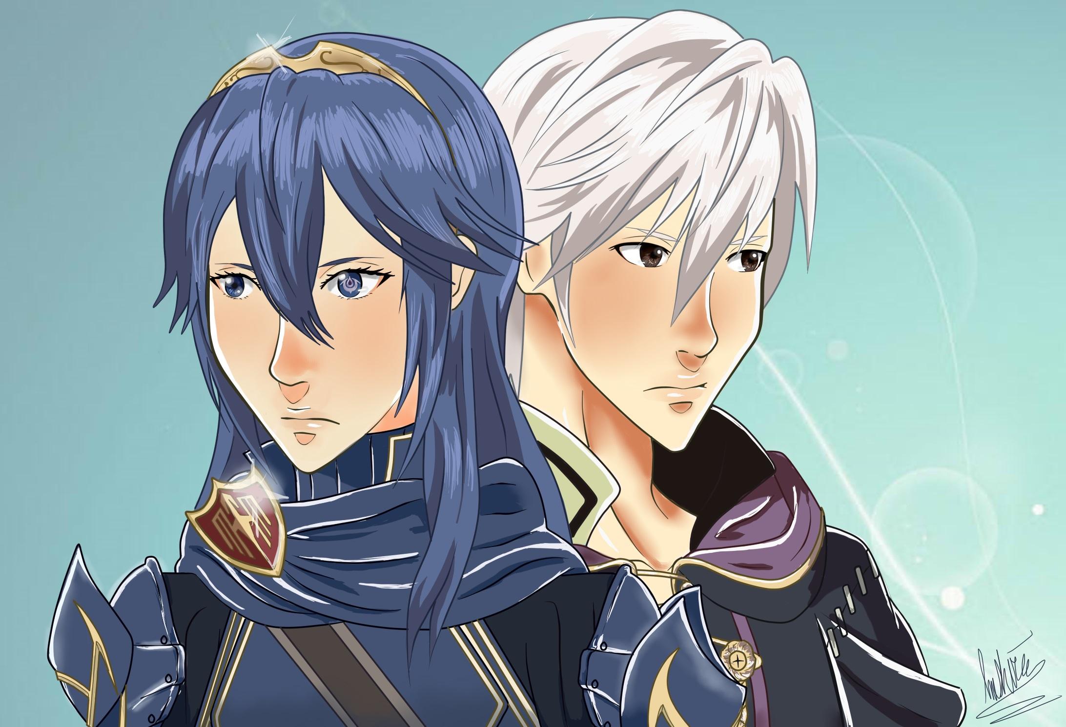 Robin and Lucina   Fire Emblem Awakening by ricecakepanda on 2184x1490