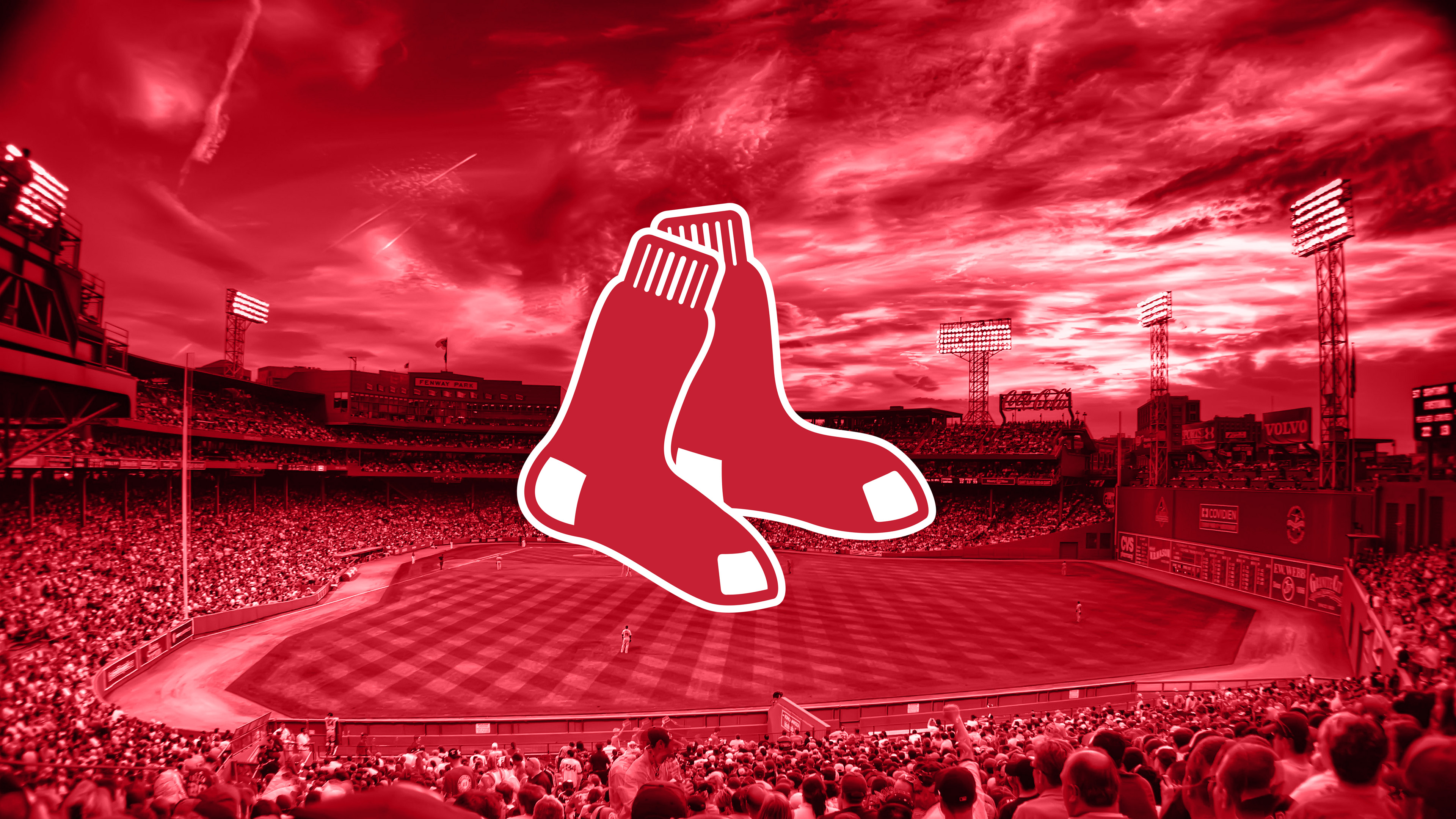 Boston Red Sox Logo Desktop Backgrounds 3840x2160