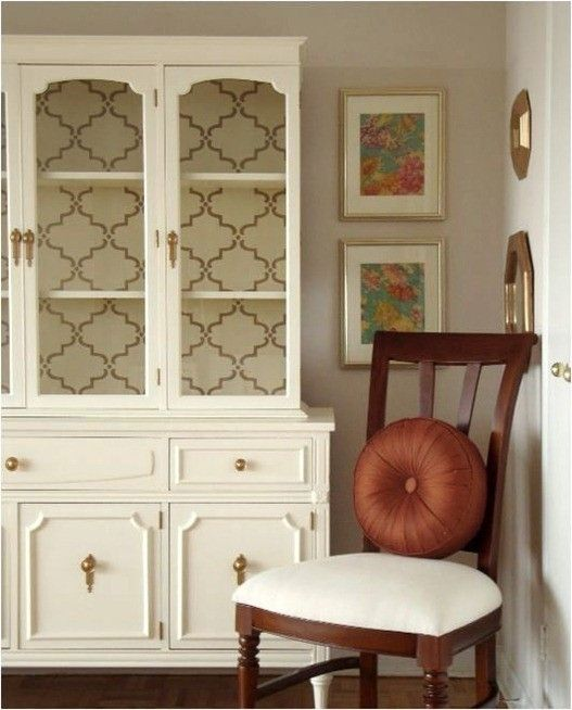 wallpaper in china cabinet For the Home Pinterest 527x654