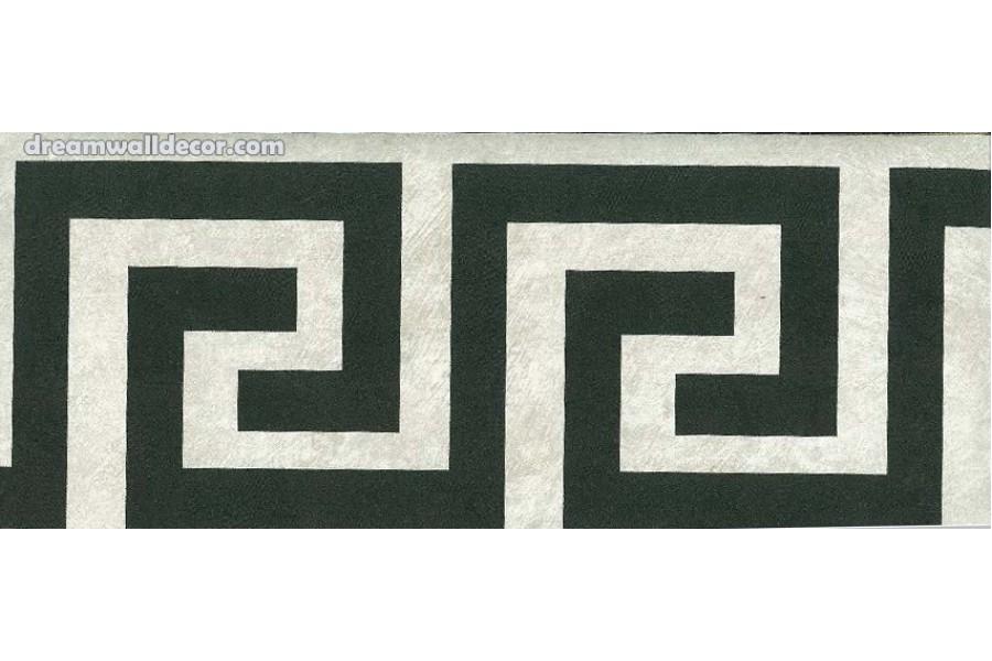 BLACK GREEK KEY Wallpaper Border 900x600