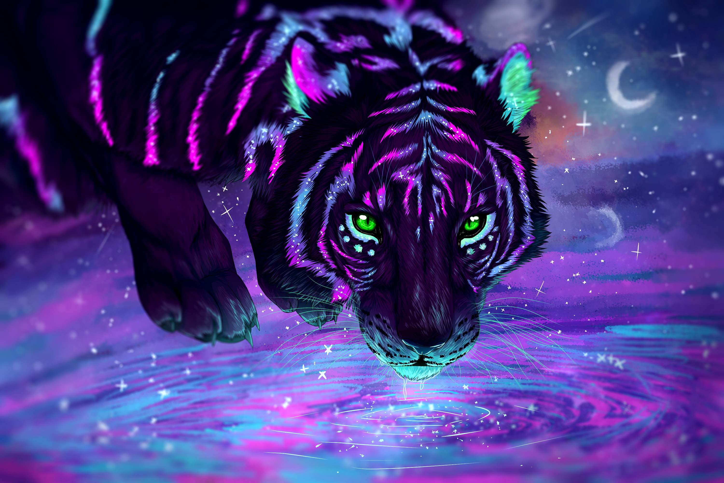 Neon Tiger Wallpapers   Top Neon Tiger Backgrounds 3000x2001