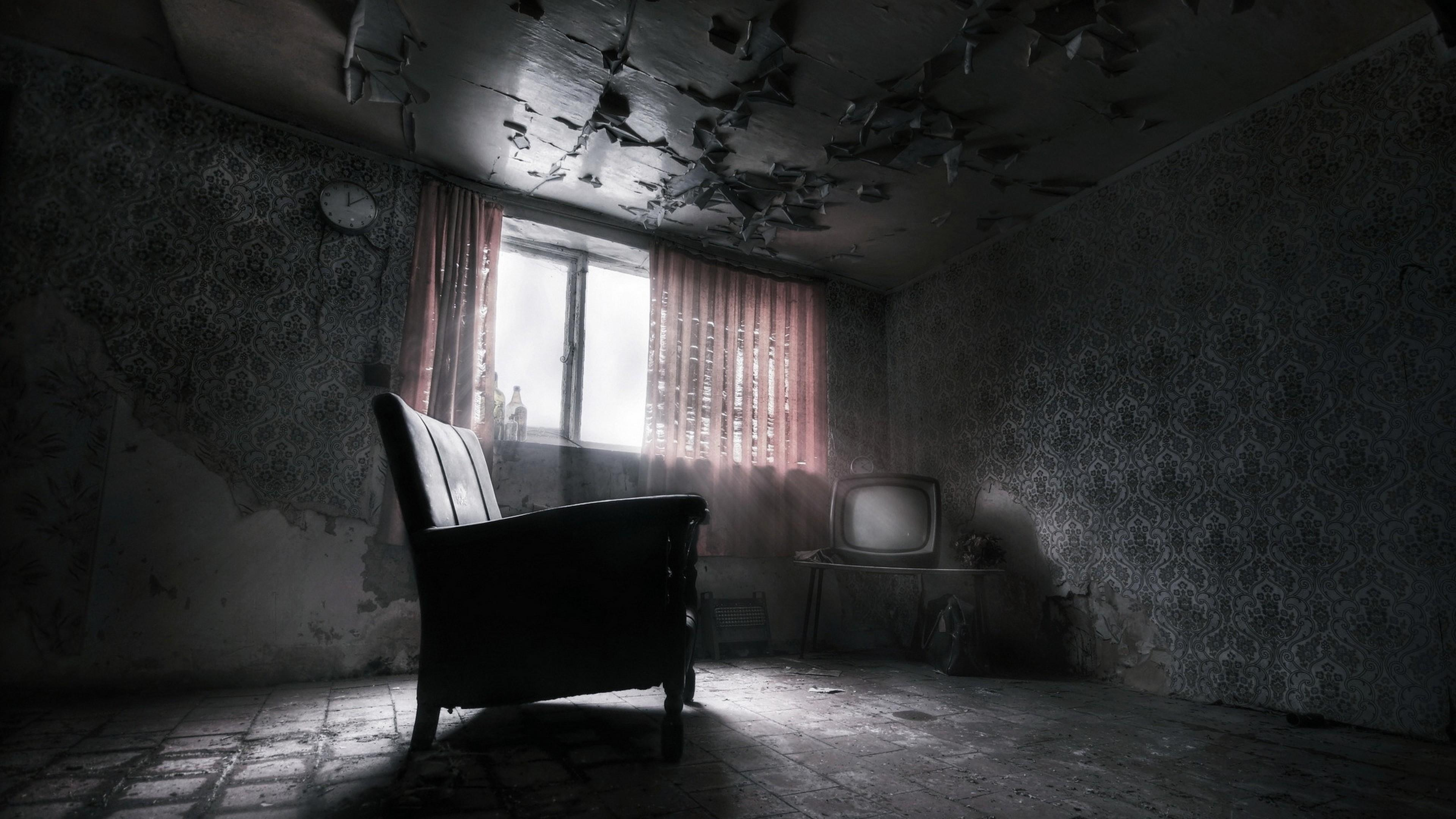 Abandoned Dark Room 4K UltraHD Wallpaper Wallpaper 3840x2160