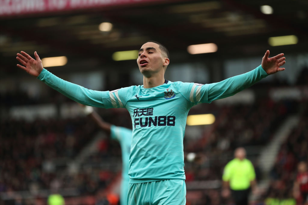 Newcastle and international fans react as Miguel Almiron sees red 1024x683