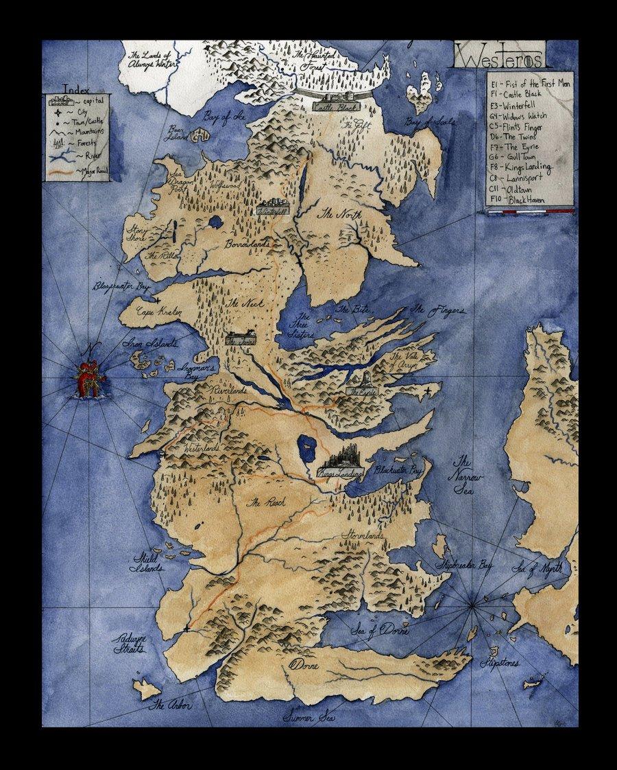 Map Of Westeros Wallpaper Wallpapersafari