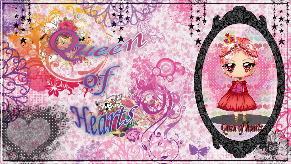 Queen of Hearts wallpaper by StrawberryCakeBunny 1024x576