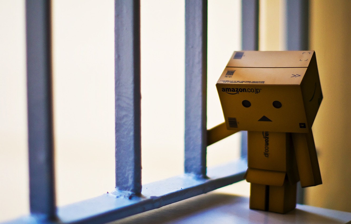 Wallpaper sadness loneliness cell robot danbo Danboard box 1332x850