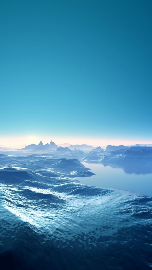 640x1136 Blue Mountains Sky River Iphone 5 wallpaper 640x1136