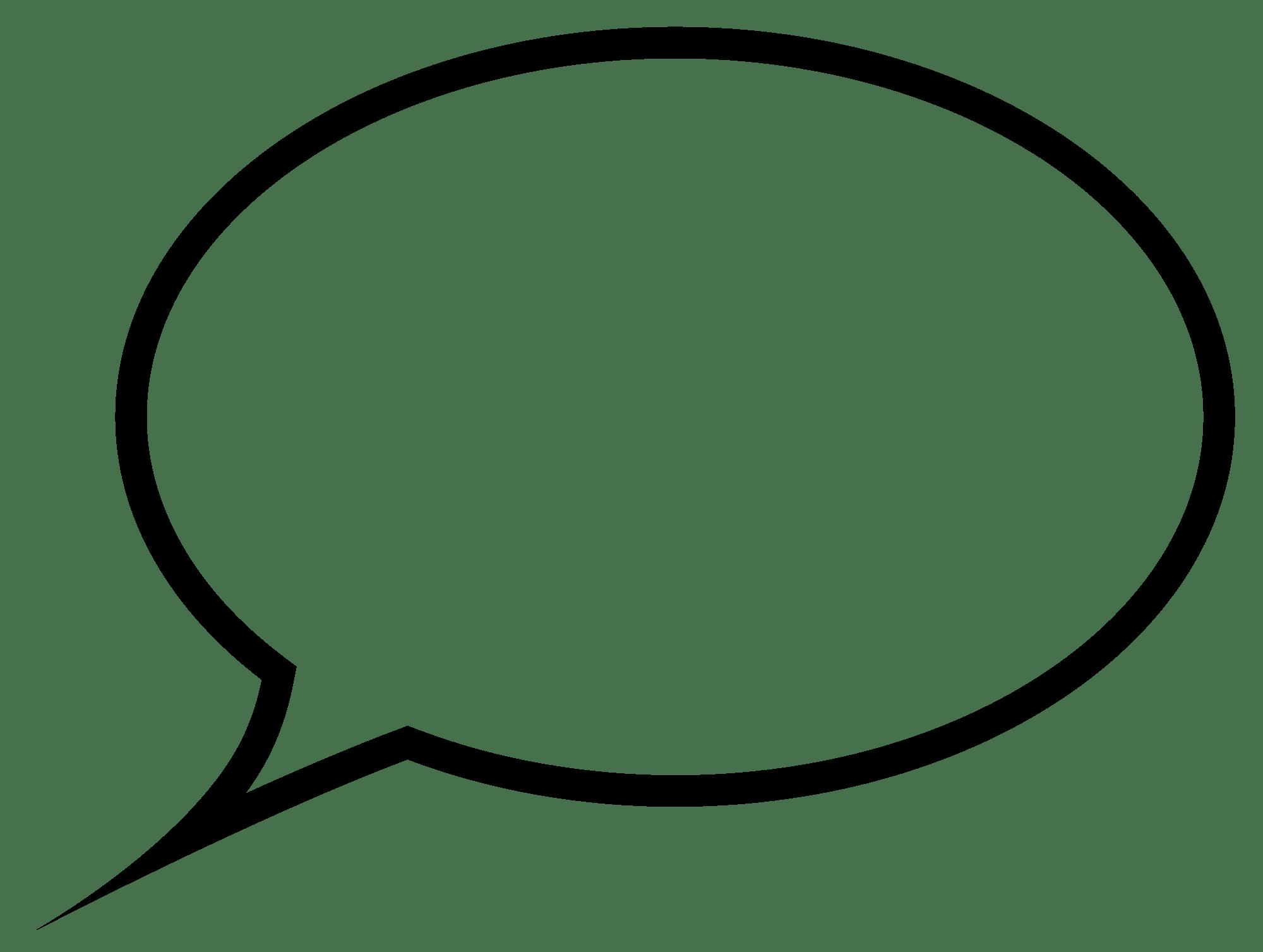 Speech Bubble transparent PNG   StickPNG 2000x1507