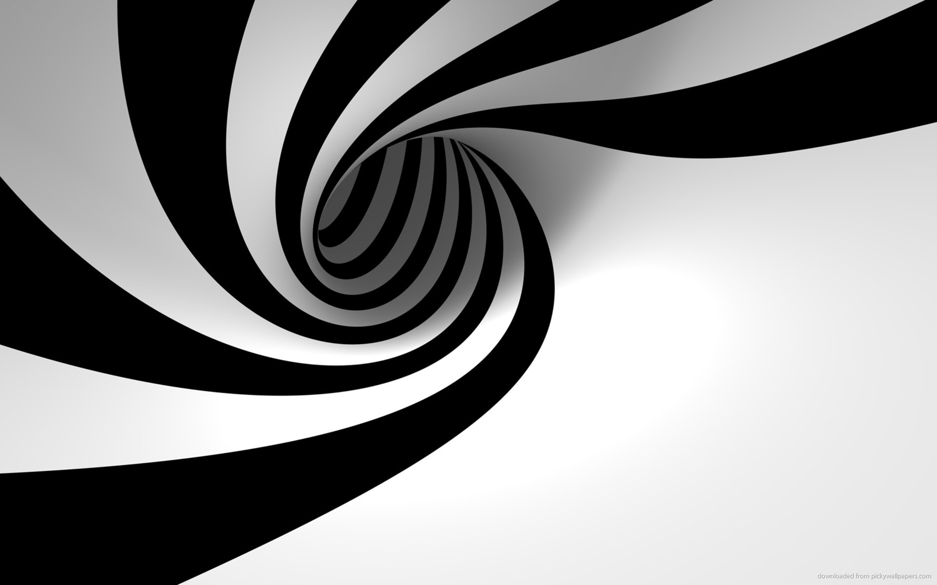 Download 1920x1200 3D Black And White Twirl Wallpaper 1920x1200