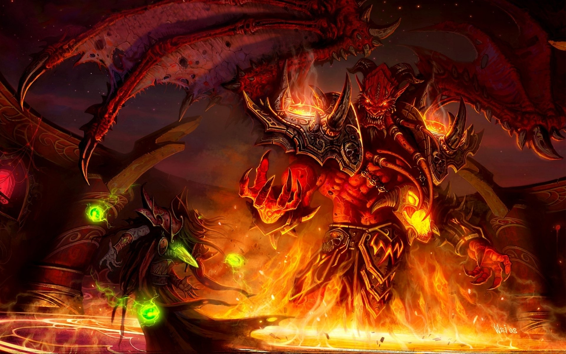 4 Kiljaeden World Of Warcraft HD Wallpapers Background Images 1920x1200