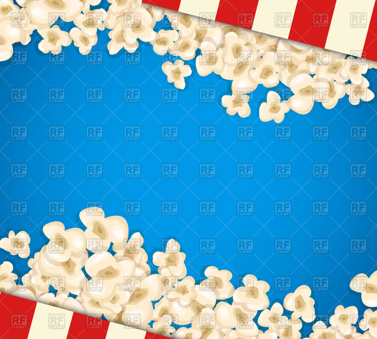 Popcorn on blue background Vector Image of Backgrounds Textures 1200x1080