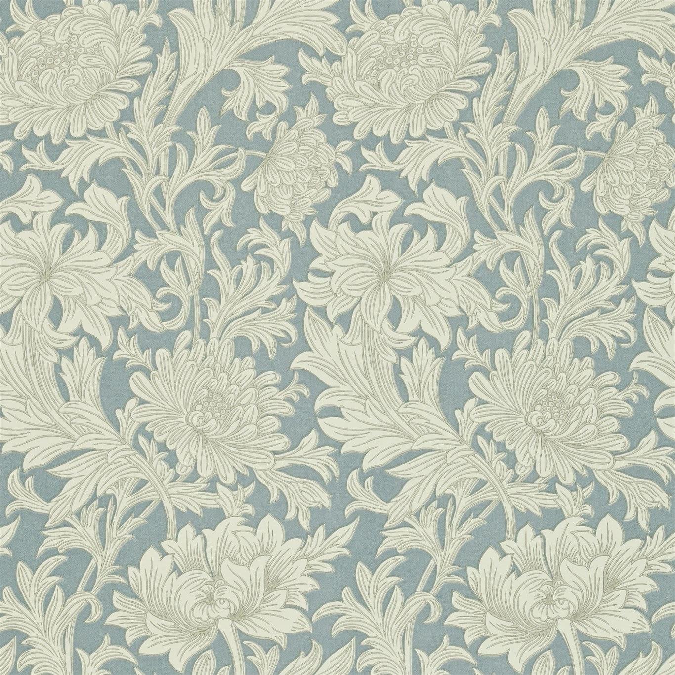 Decor Supplies China Blue Cream   DMOWCH101   Chrysanthemum Toile 1366x1366
