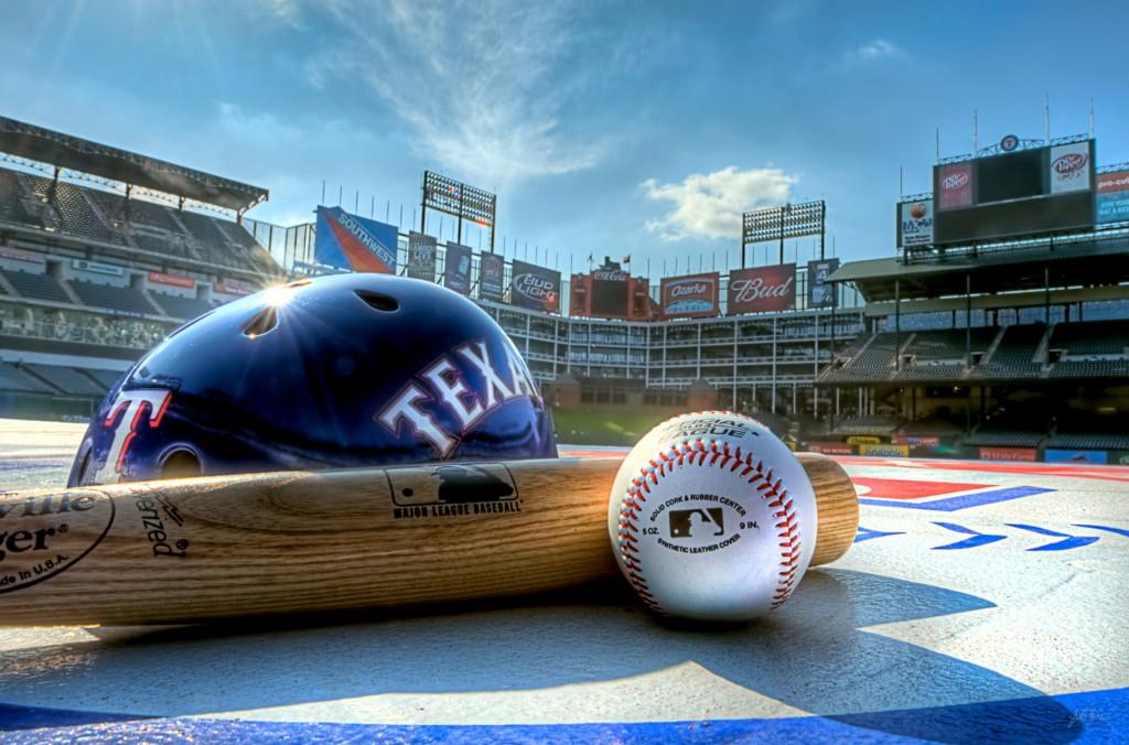 This stunning HD Texas Rangers wallpaper featuring a Rangers helmet 1024x676