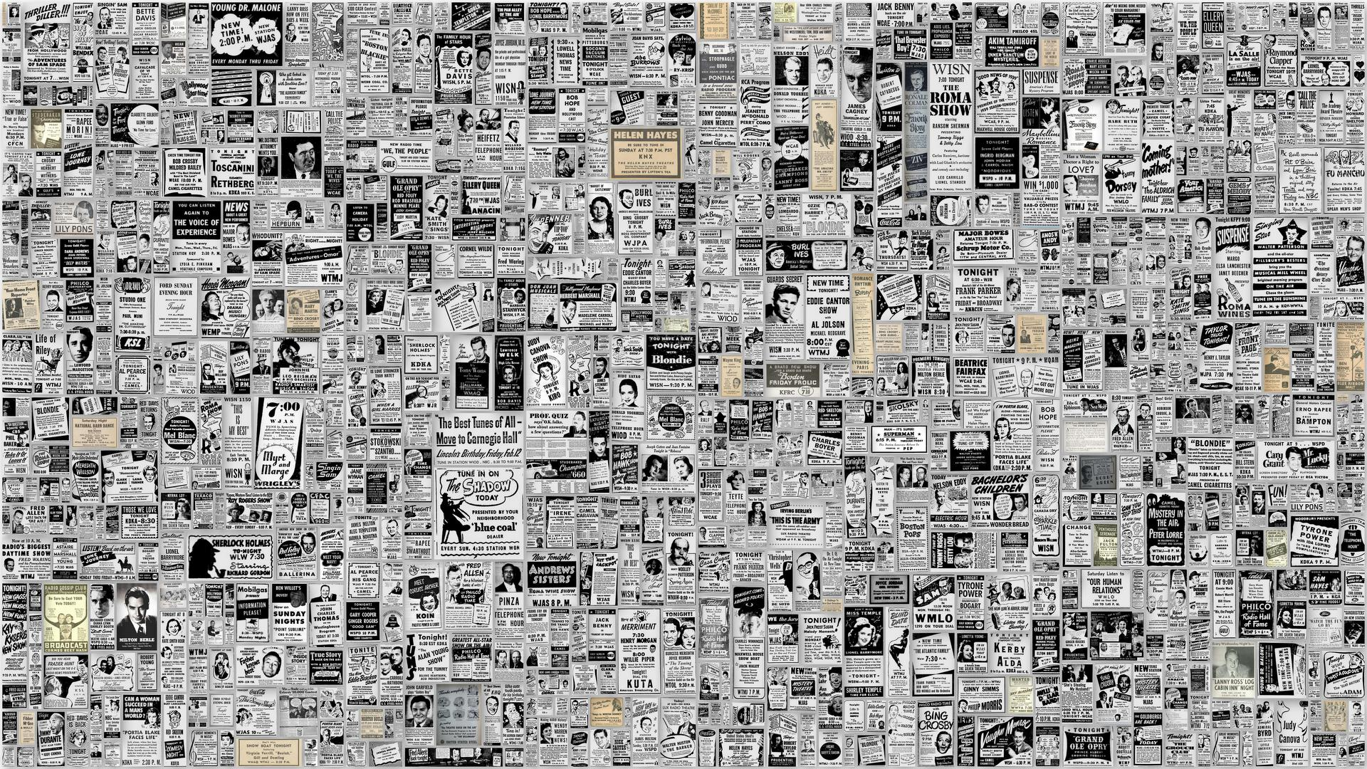 Old Newspaper Background For Word I made it just for you 1920x1080