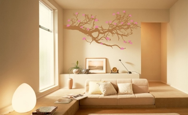 Modern home wallpaper design for living room 600x369