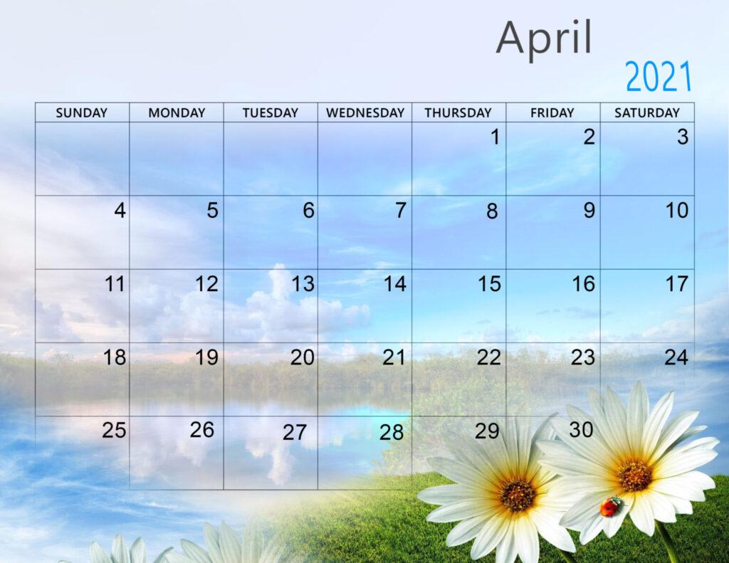 Cute April 2021 Calendar Wallpaper For Children 1024x791
