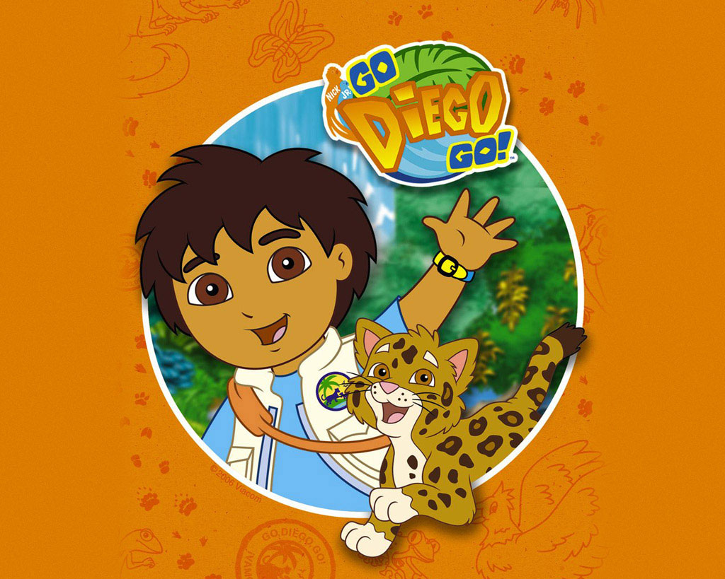 Go Diego Go with a leopard Wallpaper   Go Diego Go Wallpaper 1024x819