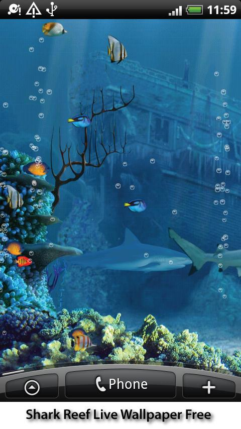 Shark Reef Live Wallpaper   Android Apps on Google Play 480x854