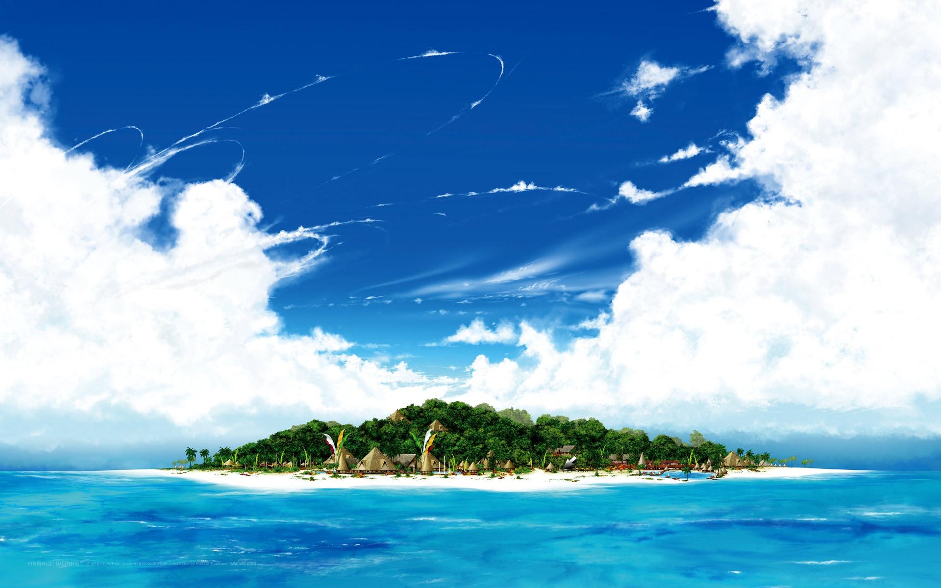 Distant Island desktop wallpaper 1920x1200