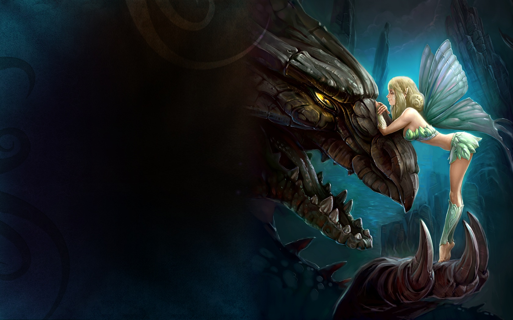 Dragons images Dragon and Fairy HD wallpaper and background photos 1680x1050