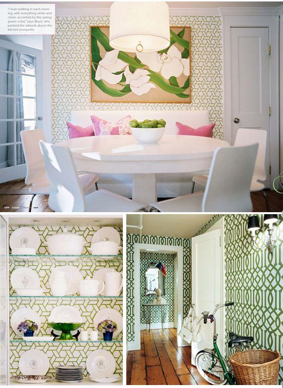 green trellis wallpaper Inspiration File Pinterest 576x790
