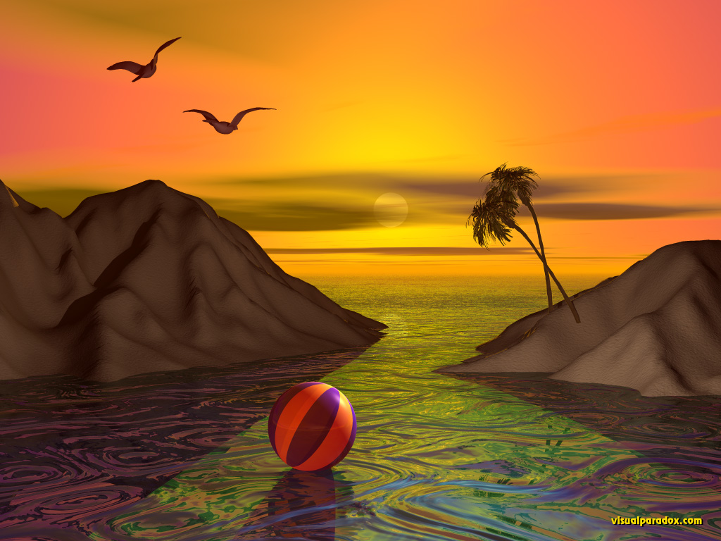 Free 3d Beach Wallpaper: Free 3D Beach Wallpaper