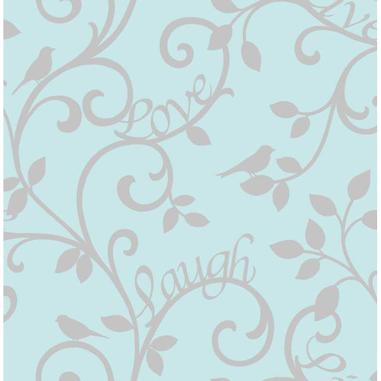 Fine Decor Live Love Laugh Teal   Silver Wallpaper   293299 783x783