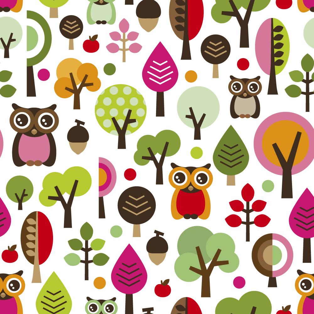 Cute cartoon owl wallpaper impremedia wallpaper retro cartoon owls wallpaper voltagebd Images