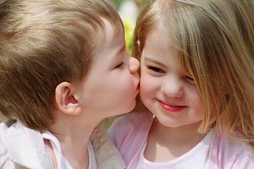 Kids Children kids cute baby girl baba kiss image picture wallpaper 500x332