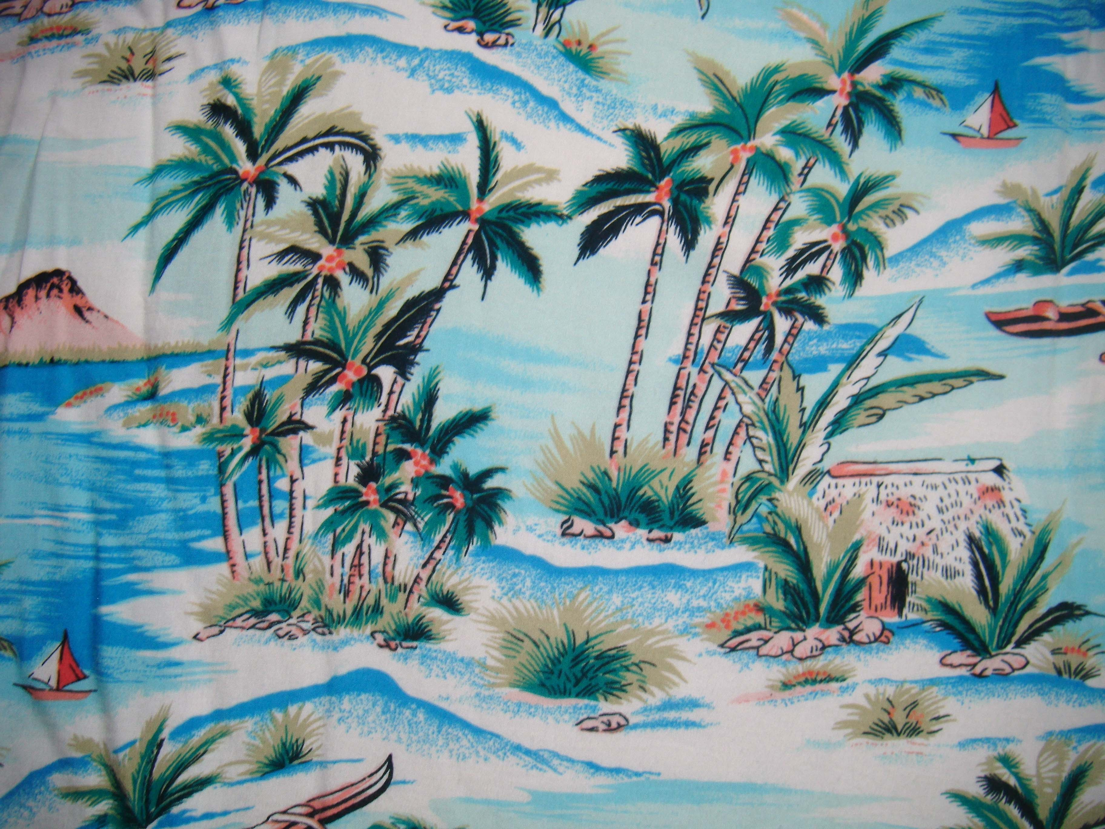 Vintage Hawaiian Wallpaper Flowers Pattern Top Pictures 3648x2736