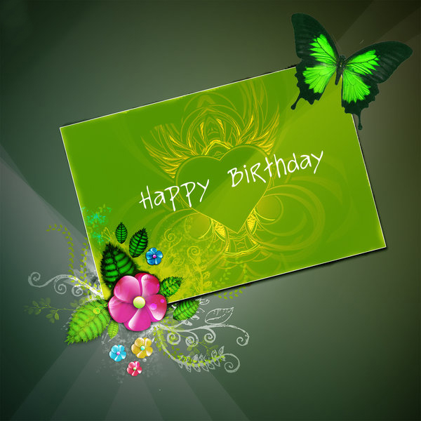Best Beautiful Wallpaper greeting cards for birthday 600x600