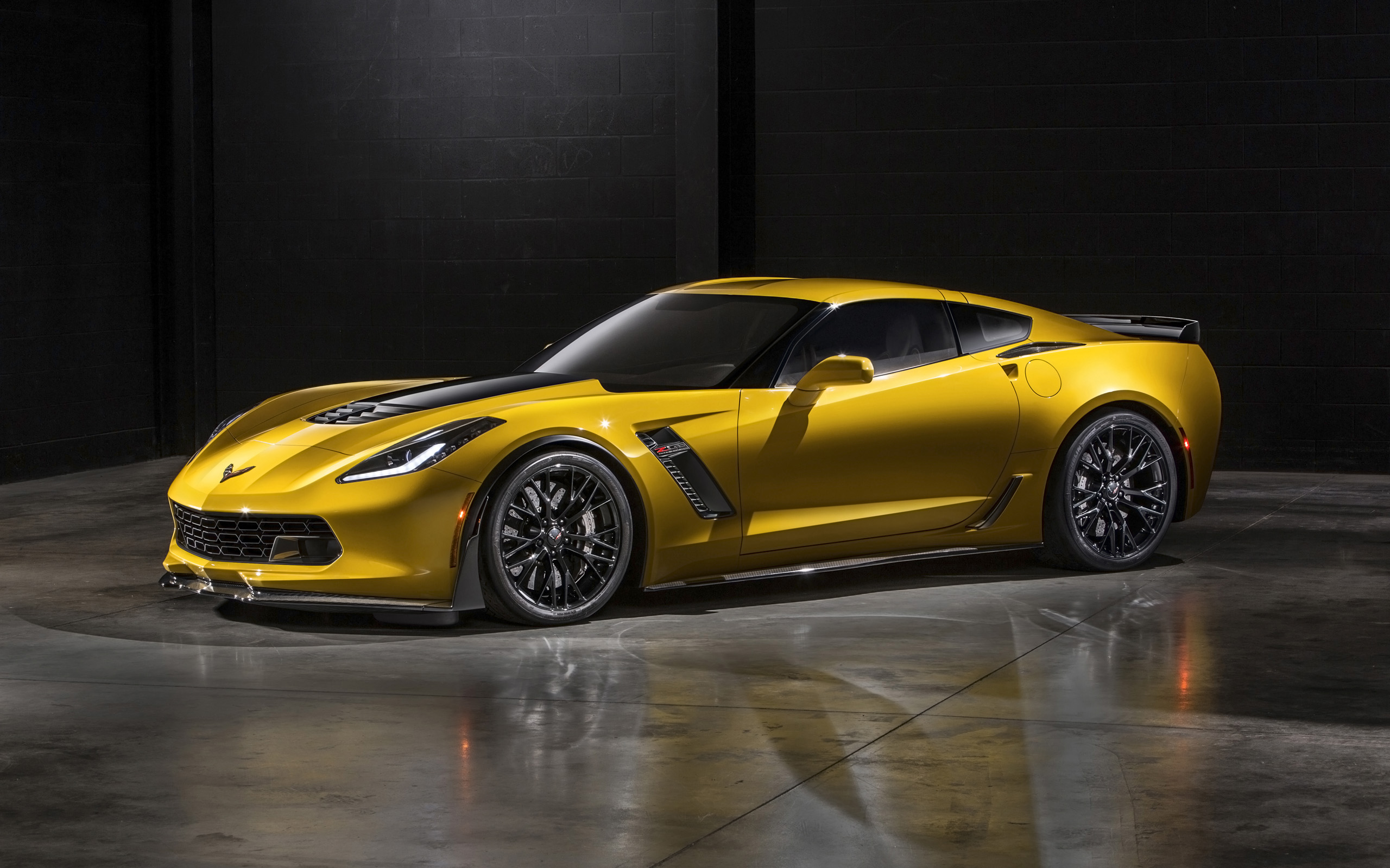 Corvette Stingray Z06 C 7 supercar muscle gd wallpaper background 2560x1600