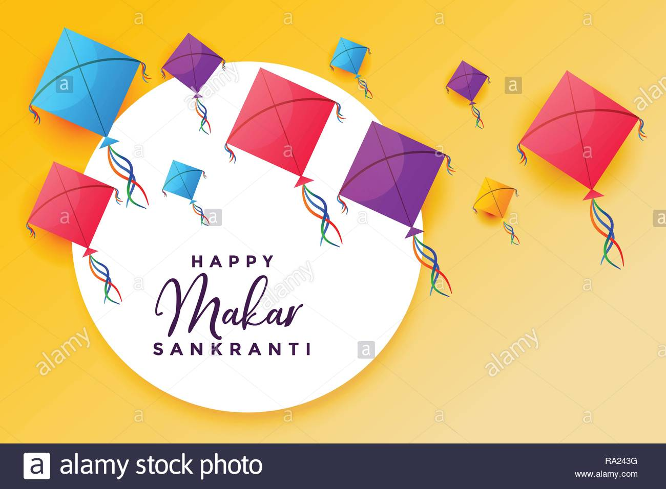happy makar sankranti with flying kites festival background Stock 1300x956